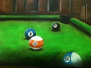 Ball Pastels - Behind the 8 ball by Michael Alvarez