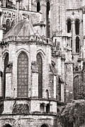 Medieval Style Prints - Behind the Cathedral Print by Olivier Le Queinec