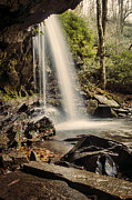 Gatlinburg Tennessee Prints - Behind the Falls Print by Heather Applegate
