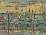 Fence Drawings - Behind the Fence by Donald Maier