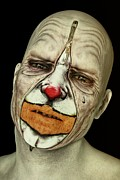 Cries Metal Prints - Behind The Mask - The Tears of a Clown Metal Print by Liam Liberty