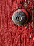 Original Pastels Metal Prints - Behind The Red Door Metal Print by Tom Druin