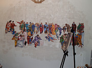 Painter Photo Photo Metal Prints - Behind the Scenes Mural 7 Metal Print by Becky Kim