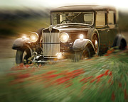 Valuable Digital Art Prints - Behind the Wheel Print by Edmund Nagele