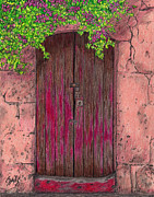Buildings Drawings - Behind This Door by Lew Davis