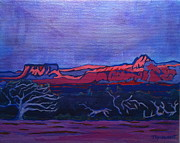 National Parks Paintings - Behind Zion National Park Dancing Tree by Jennifer Wilkinson Rynbrandt