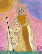 Sacred Art Paintings - Behold The Lamb Of God by Danielle Tayabas