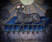 Behold The Lamb Of God Stained Glass Church Window  Print by Inspired Nature Photography By Shelley Myke