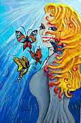 Woman Reliefs Metal Prints - Behold the New Has Come Metal Print by Ohso Faboolus
