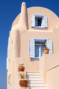 Attractive Framed Prints - Beige color house Framed Print by Aiolos Greece Collection