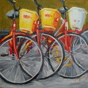 - Occupy Beijing Paintings - Beijing bicycles by Patricia Cotterill