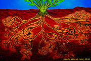Rooted Framed Prints - Being Rooted and Grounded in My Good Soil Framed Print by Sandra Pena de Ortiz