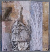 Fabric Mixed Media - Being by Wen Redmond