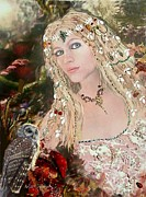 Fairy Art Reliefs - Bejewelled In The Forest by Arlene Delahenty