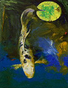 New Age Paintings - Bekko Butterfly Koi by Michael Creese