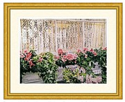 Flower Boxes Paintings - Bel-Air Azalea Flower Box  Estate Sale by  David Lloyd Glover