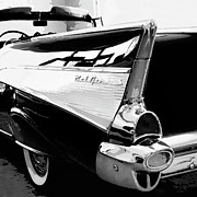 Retro Car Photos - BEL AIR BW Palm Springs by William Dey