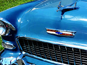 Convertible Posters - Bel Air Hood Ornament Poster by Susan Savad