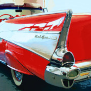 Car Culture Posters - BEL AIR Palm Springs Poster by William Dey