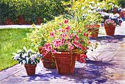 Pathway Paintings - Bel-Air Welcome Garden by  David Lloyd Glover