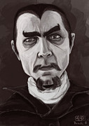 Dracula Digital Art Metal Prints - Bela Lugosi Metal Print by Alexa Renee Smothers