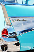 Motors Mixed Media Framed Prints - Belair Tail Lights Wall Print Framed Print by AdSpice Studios