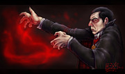 Dracula Digital Art Posters - Belas Hungarian Hands Poster by Alexa Renee Smothers
