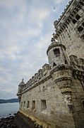 Limestone Carvings Posters - Belem Tower 3 Poster by Deborah Smolinske