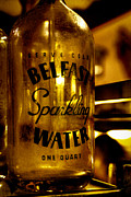Water Bottle Posters - Belfast Sparkling Water Poster by David Patterson