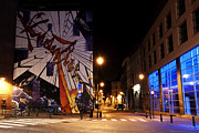 Long Street Photo Posters - Belgium Street Art Poster by Juli Scalzi