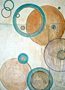 Calm Mixed Media Acrylic Prints - Belief in Circles Acrylic Print by Debi Pople