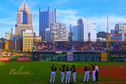 Pittsburgh Pirates Posters - Believe in the Bucs Poster by Erica Michelle