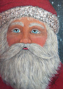 Claus Mixed Media Posters - Believe Poster by Joann Loftus
