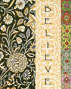 Affirmation Mixed Media Posters - Believe  Poster by Ricki Mountain