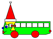 Belinda Prints - Belinda the Bus wishes you a Merry Christmas Print by Asbjorn Lonvig