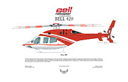Mercy Art - Bell Helicopter 429 by Arthur Eggers