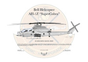 Marine Corp Framed Prints - Bell Helicopter AH-1Z Super Cobra Framed Print by Arthur Eggers