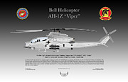 Viper Digital Art Framed Prints - Bell Helicopter AH-1Z Viper Framed Print by Arthur Eggers