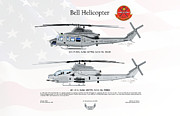 Upgrade Framed Prints - Bell Helicopter UH-1Y AH-1Z Upgrade Framed Print by Arthur Eggers