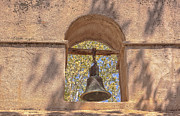 Tlaquepaque Village Prints - Bell In The Wall Print by Tom Singleton