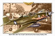 Carrier Mixed Media Posters - Bell P-39D - Air A Cutie Poster by A Hermann