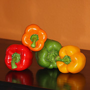 Reflection Harvest Photo Posters - Bell Pepper Still Life Poster by Art Block Collections