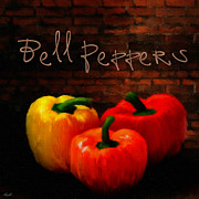 Aged Art Collage Prints - Bell Peppers II Print by Lourry Legarde