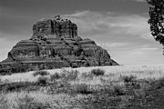 Bell Rock In Monochrome Print by Randy Bayne