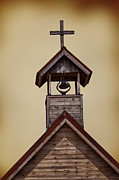 Wooden Building Posters - Bell Tower Poster by Margie Hurwich