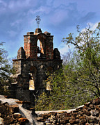 Religious Prints Photo Metal Prints - Bell Tower Mission San Francisco de la Espada Metal Print by Gerlinde Keating - Keating Associates Inc