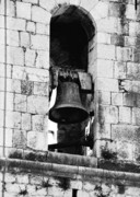 Monastery  Posters - Bell Tower Valbonne Abbey Poster by Christine Till