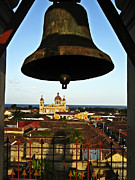 Tiled Framed Prints - Bell Tower View Granada Nicaragua Framed Print by Kurt Van Wagner