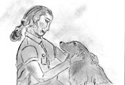 Love Drawings - Bella and Me by Elizabeth Briggs