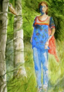 Clothed Figure Painting Posters - Bella Emerges Poster by Beverley Harper Tinsley